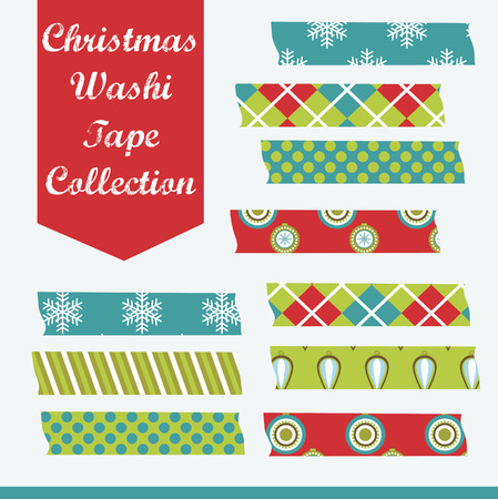 merry christmas tape design. vector illustration Vector