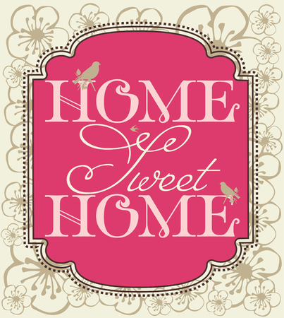 home deco: sweet home card design. vector illustration