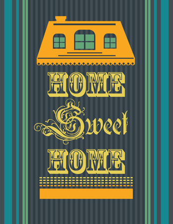 welcome home: sweet home card design. vector illustration