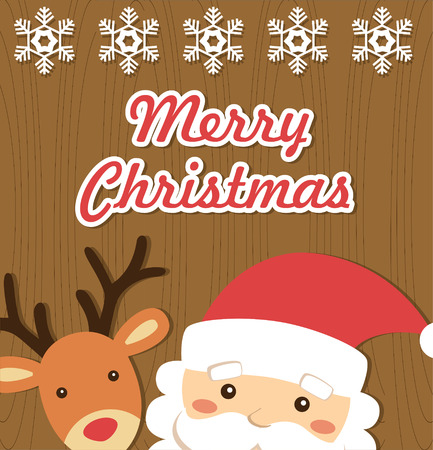 merry christmas card design. vector illustration Stock Vector - 26908861