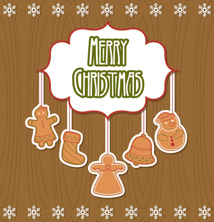 merry christmas card design. vector illustration Vector