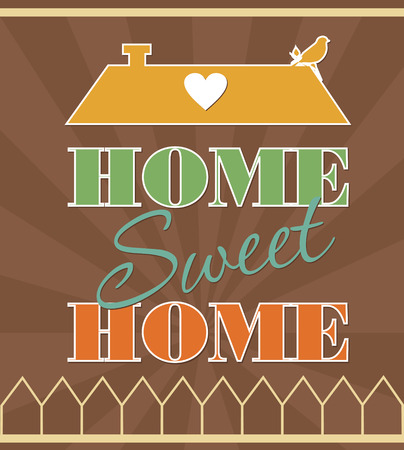 sweet home card design. vector illustration Vector