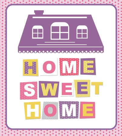 sweet home card design. vector illustration Vector
