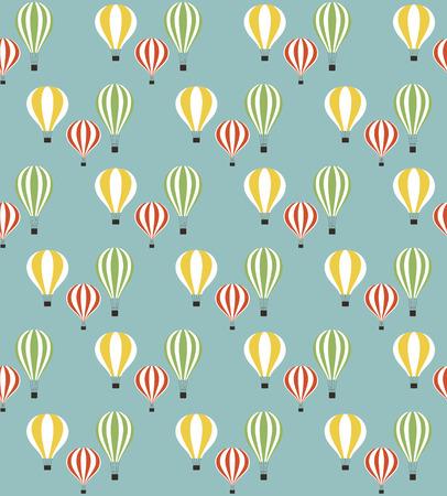 balloon vector: air balloon seamless pattern design. vector illustration