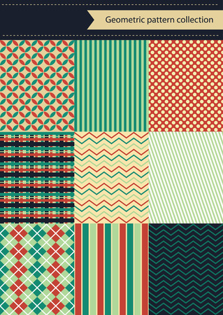lining: retro geometric pattern design. vector illustration