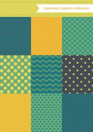 retro geometric pattern design. vector illustration Vector