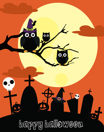 happy halloween card design. vector illustration Vector