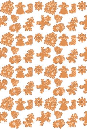 galletas de jengibre: galletas de jengibre sin patr�n. ilustraci�n vectorial