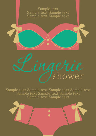 underclothes: lingerie card. vector illustration