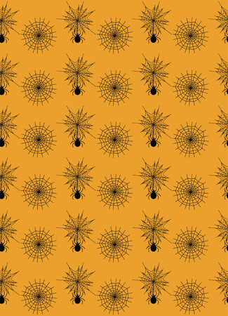 halloween seamless pattern design. vector illustration Vector