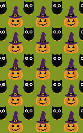 halloween pattern: halloween seamless pattern design. vector illustration