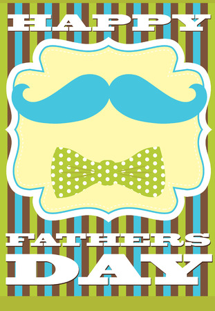 fathers day card design. vector illustration