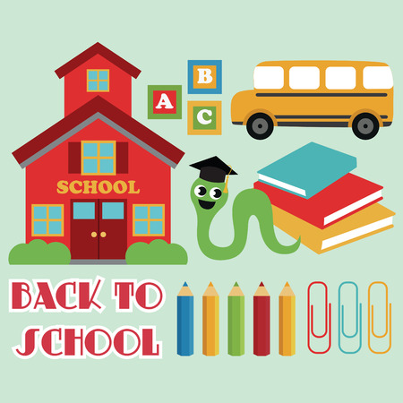 back to school card design. vector illustration Vector