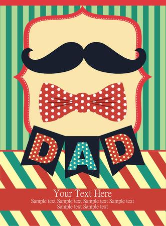Diseño de la tarjeta del día de padre. ilustración vectorial Foto de archivo - 26911728