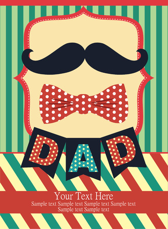 birthday boy: fathers day card design. vector illustration