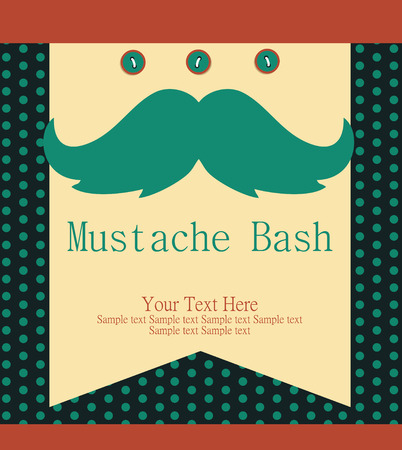 bash: fathers day card design. vector illustration