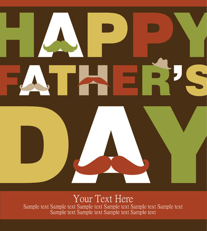 father day: fathers day card design. vector illustration