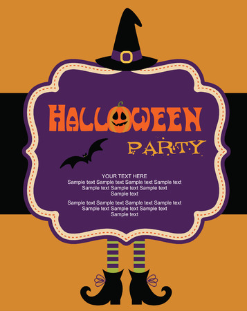cute halloween: happy halloween card design. vector illustration