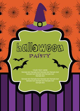 halloween kids: happy halloween card design. vector illustration
