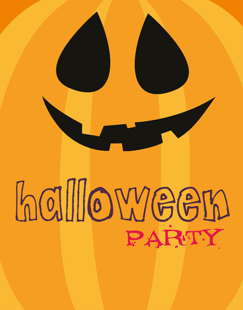 happy halloween card design.  Illustration