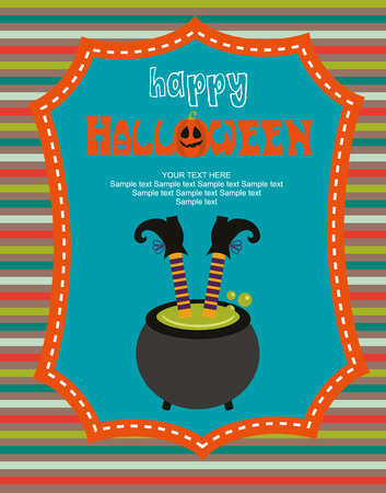 happy halloween: happy halloween card design.  Illustration