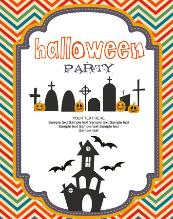 happy halloween: happy halloween card design.  Illustration