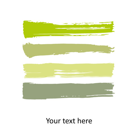 watercolor brush: Colorful vector watercolor brush stroke Illustration