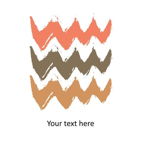Colorful vector watercolor brush stroke Illustration
