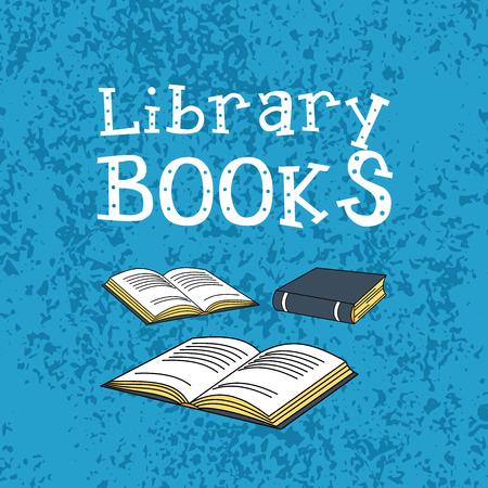 Books card design. Vector illustration.