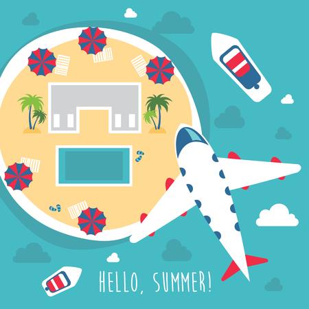 Summer hello beach vector