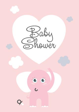 Baby shower honoring kaart ontwerp. Vector illustratie