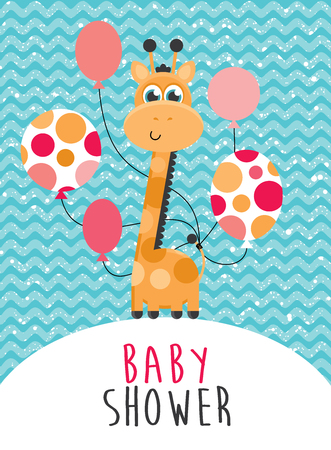 Baby shower design Vector illustration Illustration