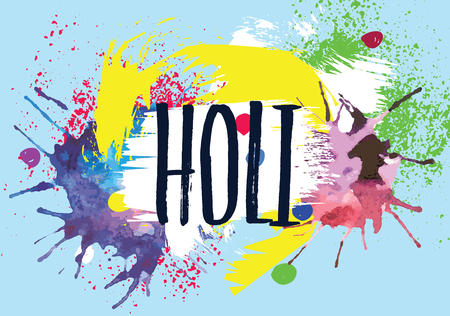 dharma: Illustration of abstract colorful Happy Holi background