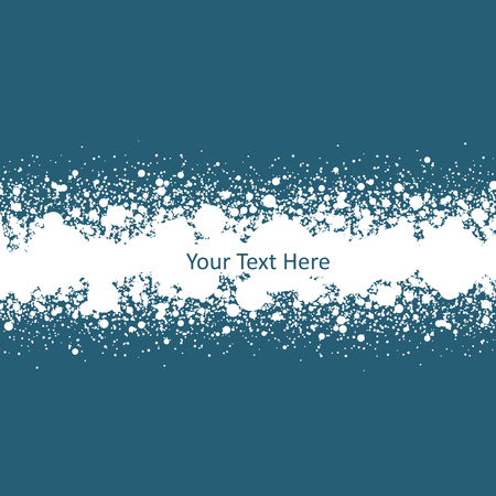 Snow banner with empty space for your text. Vector illustration Illustration