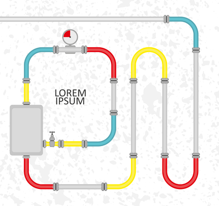 The elements of the pipeline Vector Illustration