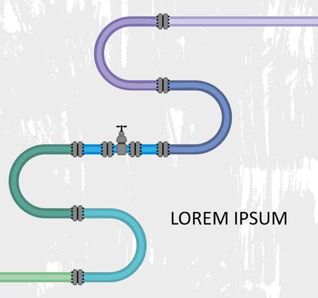 Pipe system design Vector Illustration Ilustrace