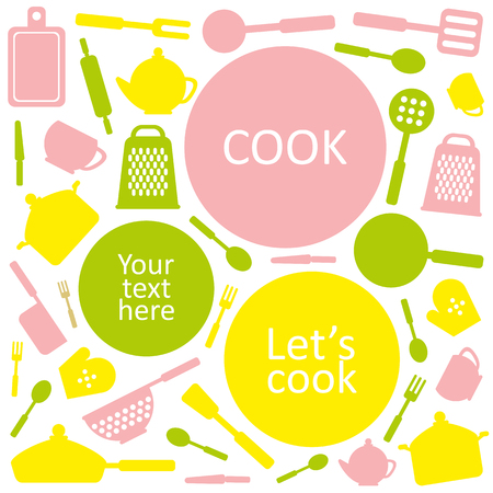 Cute kitchen pattern Vector illustration Illustration