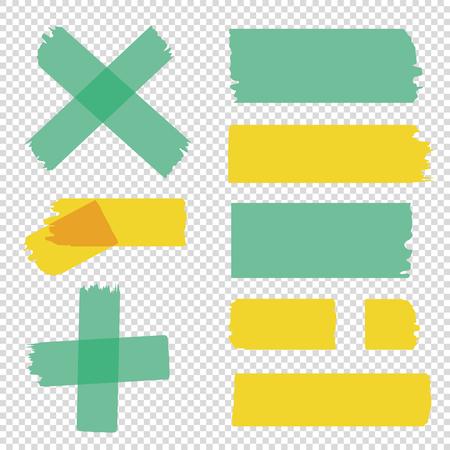 Tape pieces set. Vector Illustration