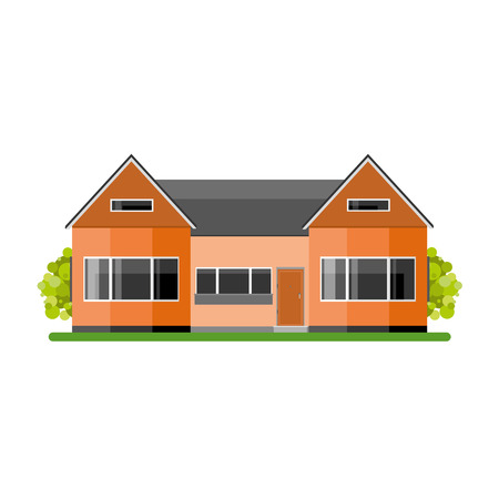House isolated on white background.Vect or Illustration