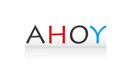 ahoy: Ahoy lettering  vector illustration.