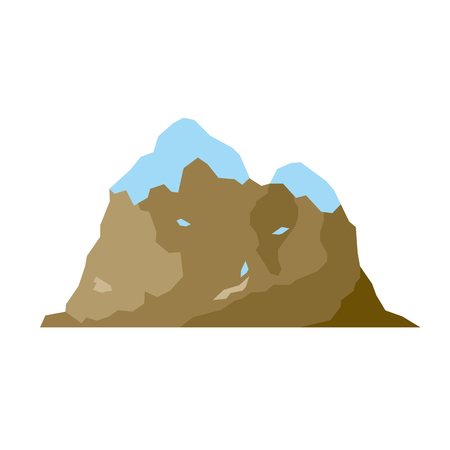 Nature mountain silhouette elements. Vector illustration