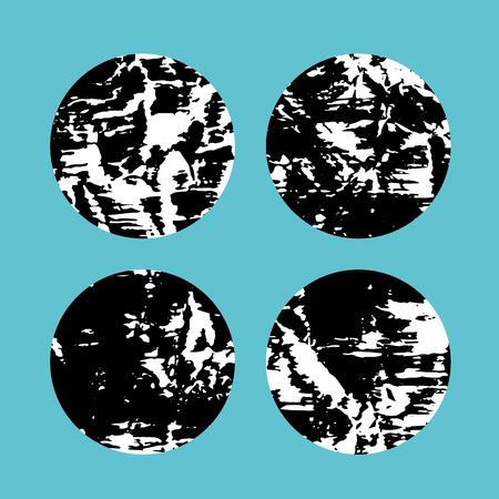 Grunge circles pattern design Illustration