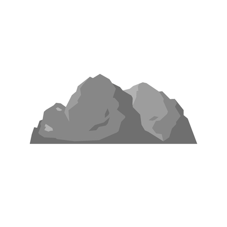 Nature mountain silhouette elements. Vector illustration Banco de Imagens - 83997601