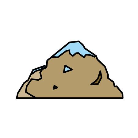 ice: Nature mountain silhouette elements. Vector illustration