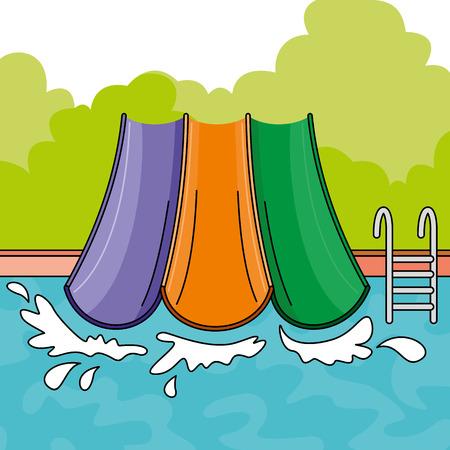 Aqua park. Vector Illustration Illustration