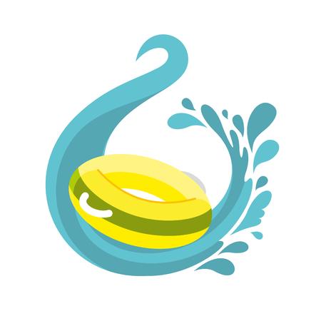 Aqua park Illustration Illustration