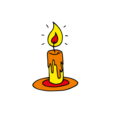 Candle. Vector Illustration