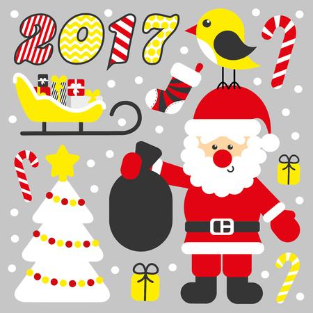 Merry Christmas card Illustration Illustration
