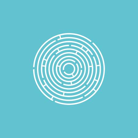 Abstract vortex circular line background. Vector illustration for design