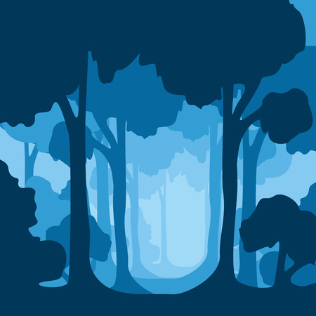 Vector illustration of trees with on edge of forest. 版權商用圖片 - 84784021